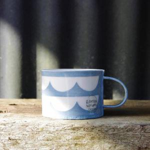 Ceramic Mug - Wave Pattern
