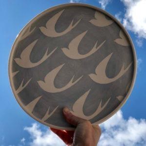 Ceramic Serving Platter - Bird Design