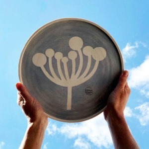 Ceramic Serving Platter - Cow Parsley Design
