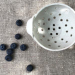 Ceramic colander berry bowl
