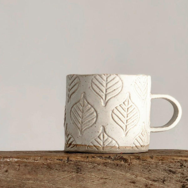 Ceramic mug – Leaf Design 1