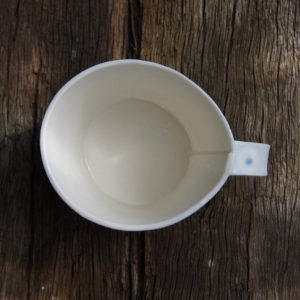 Handmade Ceramic Mug – Light Blue Dot Design 4