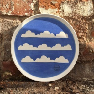 Porcelain Ceramic Mug & Side Plate - Cloud Design