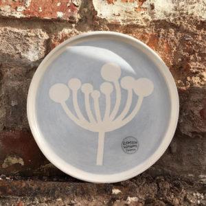 Porcelain Ceramic Mug & Side Plate - Cow Parsley Design