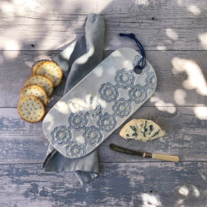 Pottery cheese board platter - Long
