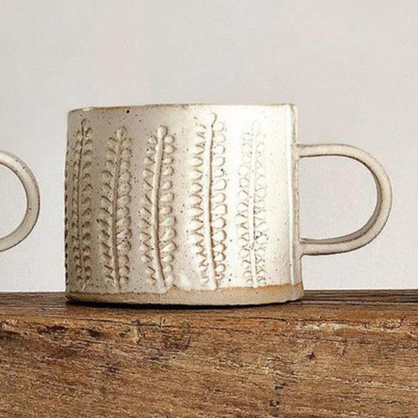 Stoneware Mug - Wheat Design